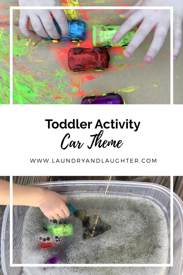 Toddler activities - car theme